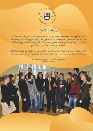 LEU rektoriaus akademiko Algirdo Gaižučio sveikinimas Mokslo ir žinių dienos proga