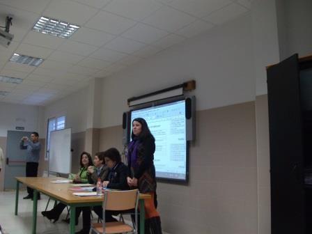 Susitikimas Ispanijos mokykloje